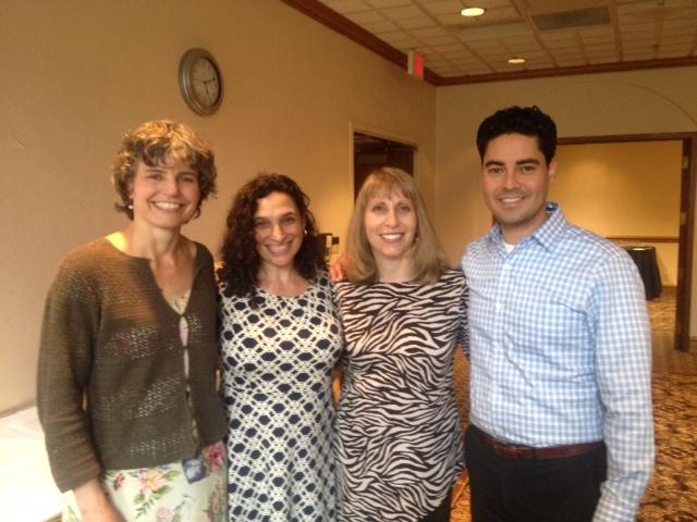 From our 2015 spring workshop. Left to right: Carrie Hatcher-Kay, Sharon Gold-Steinberg, Lisa Ferentz and César Valdez
